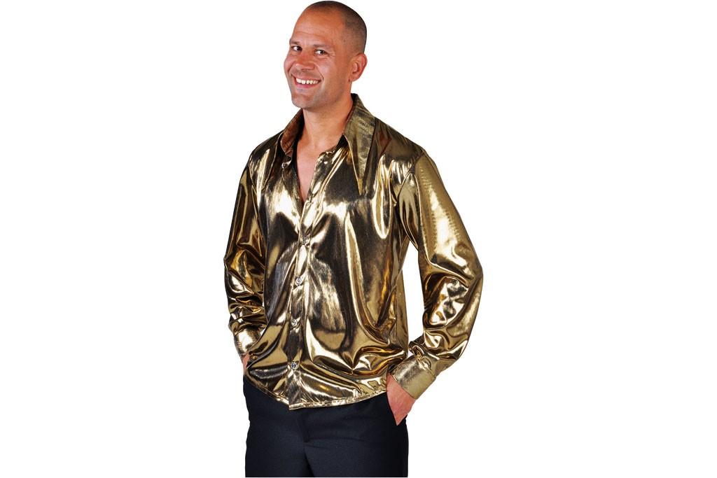 Disco blouse goud