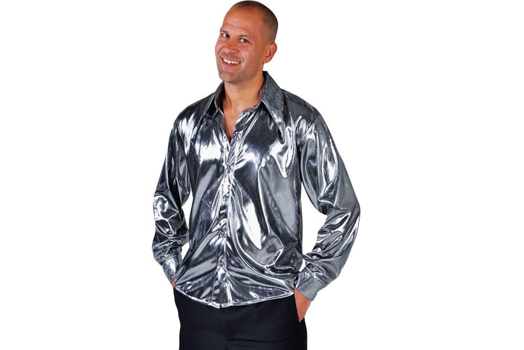 Disco blouse zilver