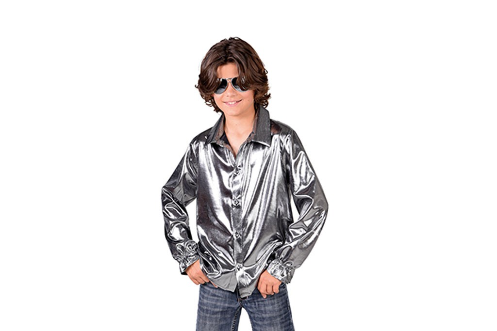 disco blouse zilver