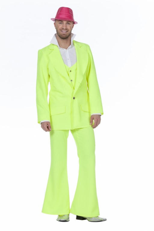 Disco pak/ night fever neon geel