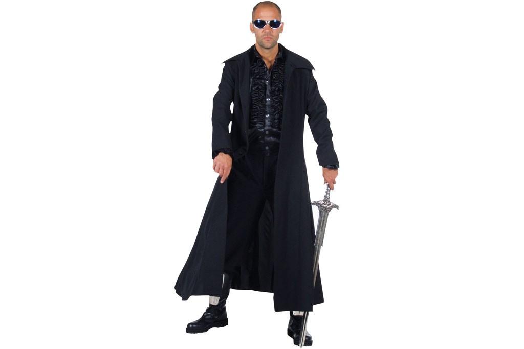 Lange Zwarte Winterjas Heren.Jas Zwart Lang Robbies Feestkleding