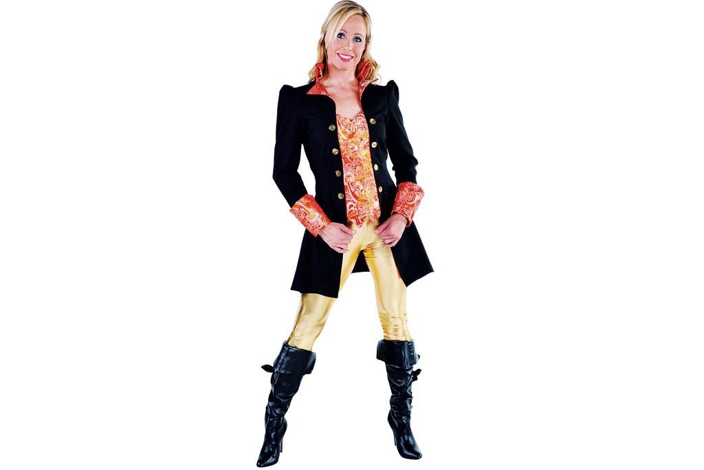 Carnavalsjasje luxe met brokaat zwart