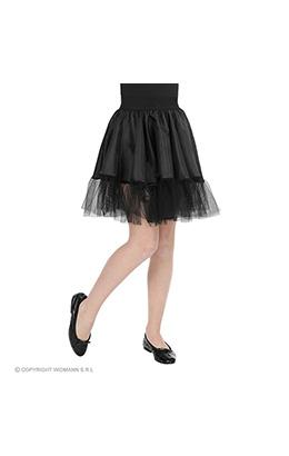 petticoat zwart, kind