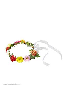 bloemenkroon met lint