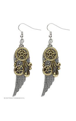 oorbellen steampunk met vleugels