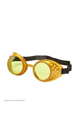 Bril, steampunk goud