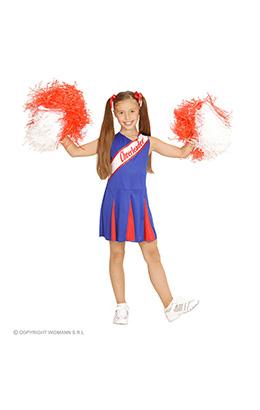 cheerleader blauw/rood meisje