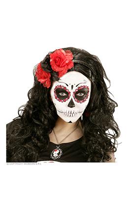 hoofdband rood/zwarte roos met glitter