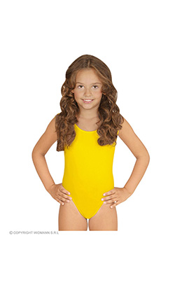 mouwloze body ass. maten kind, geel