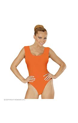 mouwloze body volwassen, oranje