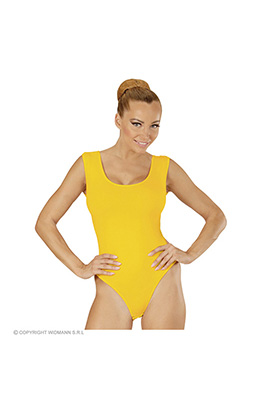 mouwloze body volwassen, geel