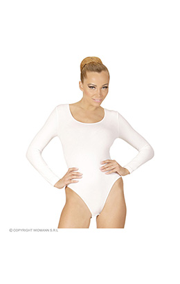 body volwassen met knoopsluiting, wit