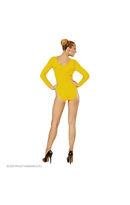 body volwassen met knoopsluiting, geel