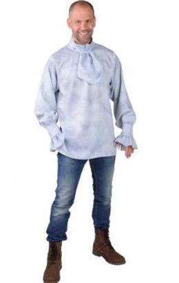 Dickens blouse met jabot grijs
