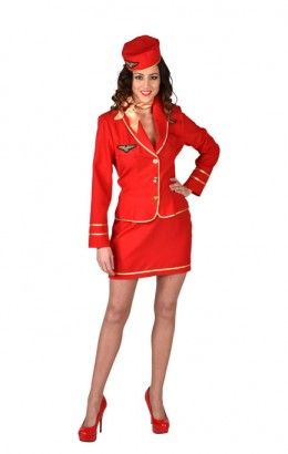 Stewardess Bel Air rood