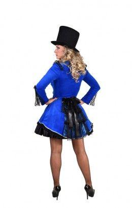 Burlesque jasje blauw