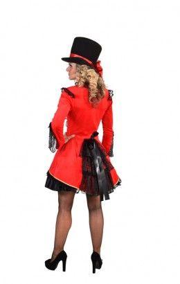 Burlesque jasje rood