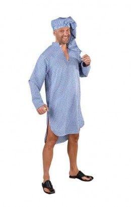 Nachthemd met slaapmuts