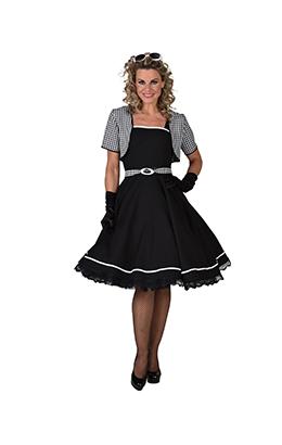 Rock'n Roll jurkje zwart/wit
