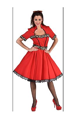 Rock'n Roll jurkje sheeba rood