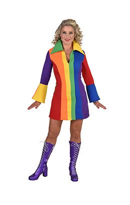 Hippie Regenboog jurkje