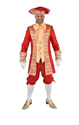 Markies kostuum rood