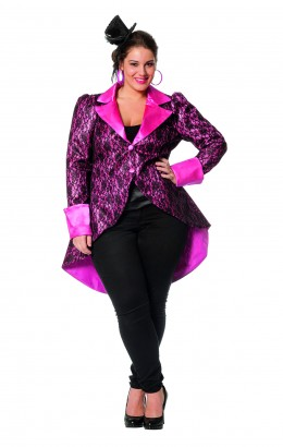 Jas XL glamour roze