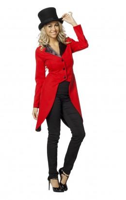 Slipjas rood met zwarte kraag