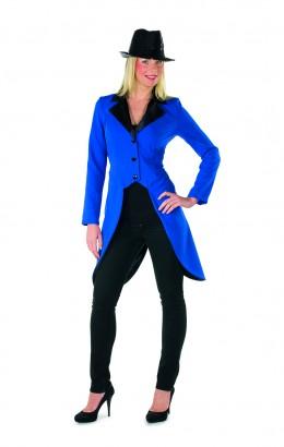 Slipjas blauw met zwarte kraag