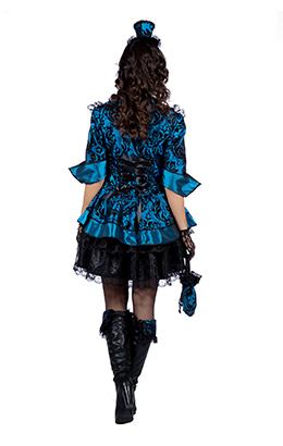 Piratenjurk blauw de luxe