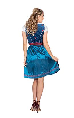 Dirndl jurkje blauw