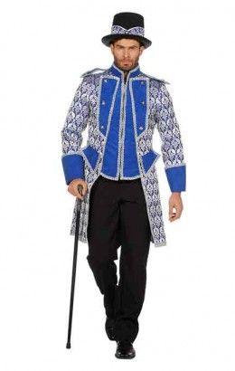Luxe jas jaquard blauw