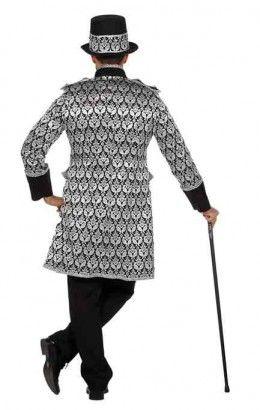 Luxe jas jaquard zwart
