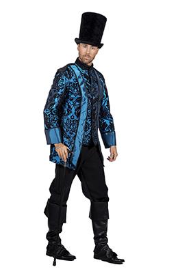 Piratenjas heren blauw luxe