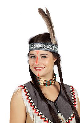 Indianenbandje met veer