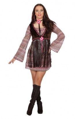 Hippie jurkje met franjes