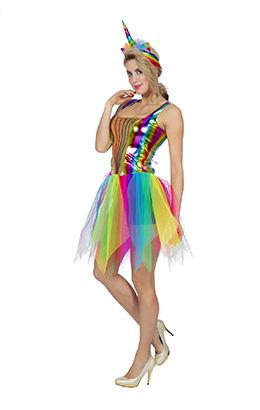 Regenboog jurkje dames