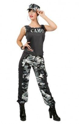 Camo girl camouflageprint grijs 4469-A
