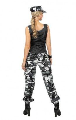 Camo girl camouflageprint grijs