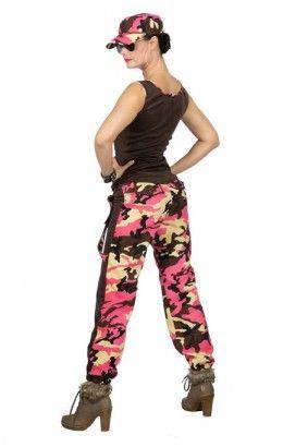 Camo girl camouflageprint roze