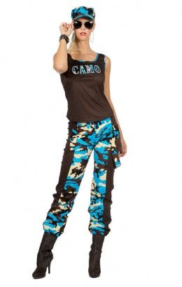 Camo girl camouflageprint blauw 4469-C