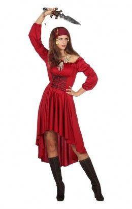 Basis jurk rood