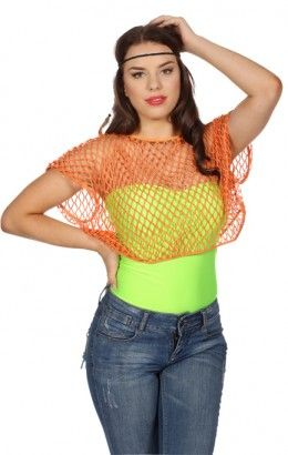 Netshirt orange korte mouw