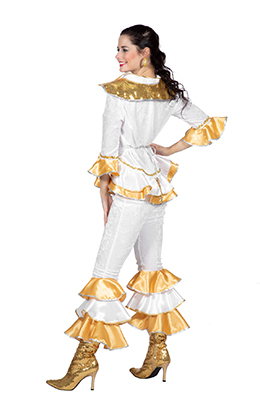 Disco kostuum Donna goud