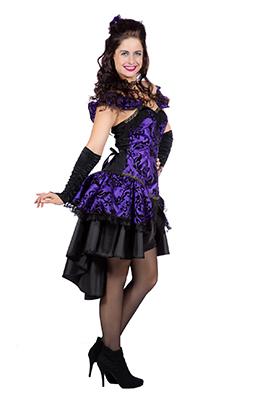 Burlesque jurkje paars