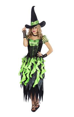 Heks Wicked zwart met groen