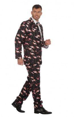 Flamingo kostuum 3-delig
