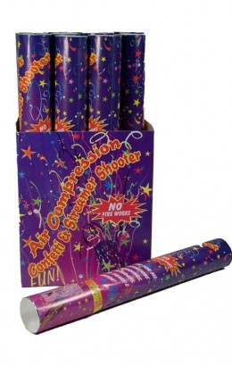Confetti shooter / party shooter multi 40 cm.