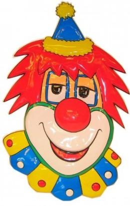 Clown wanddeco 70 cm.