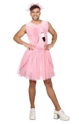 Heren flamingo jurk